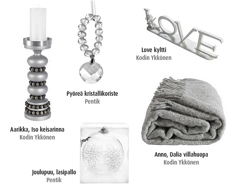 joulukoristeet-hopea