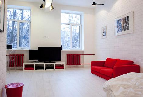 olohuone-punavalkoinen