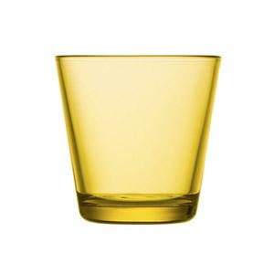 Kartio juomalasi sitruunankeltainen