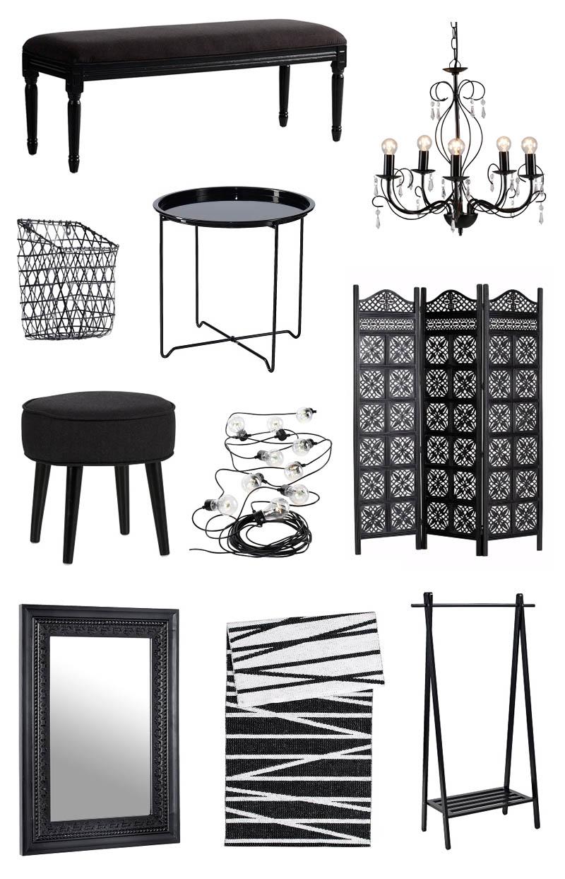 sisustus-musta-huonekalut