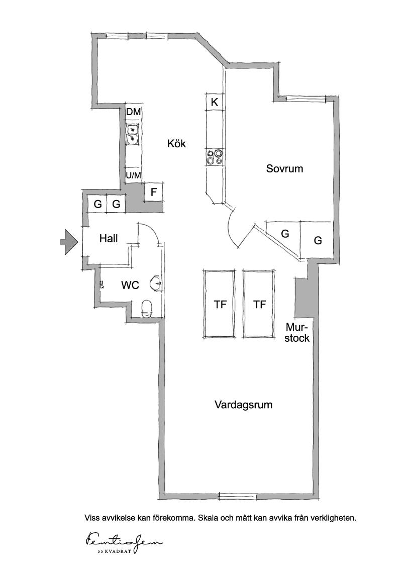 kattohuoneisto-pohjaratkaisu