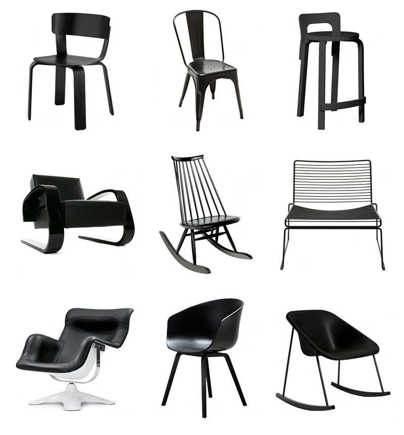 mustat-tuolit
