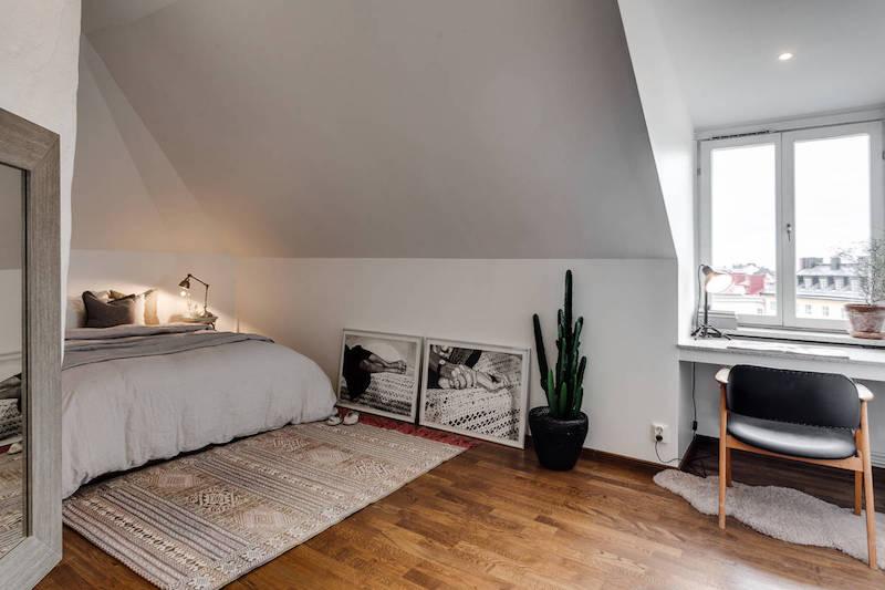 moderni-kattohuoneisto-makuuhuone