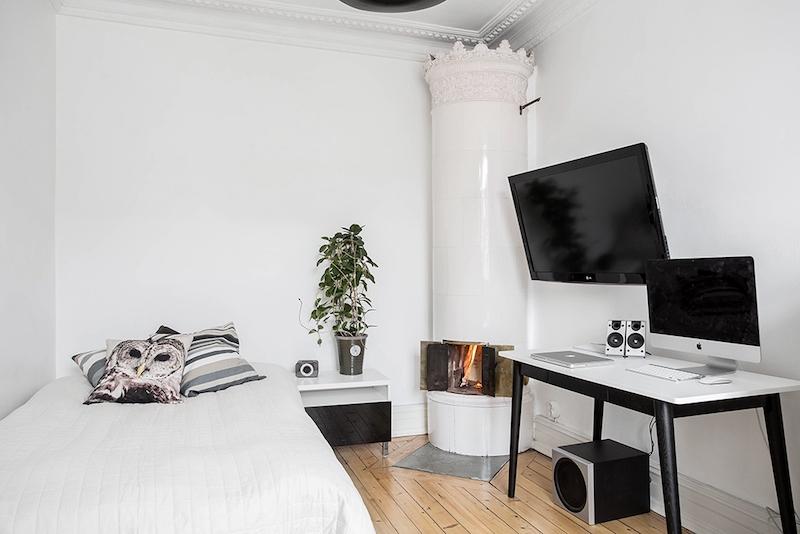 skandinaavista-romantiikka-makuuhuone-takka
