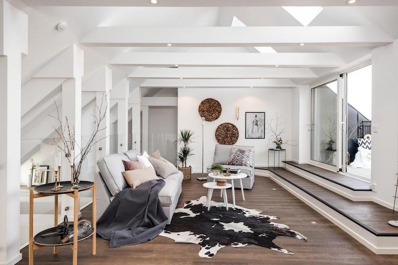 elegantti-sisustus-kattohuoneisto-oleskelutila