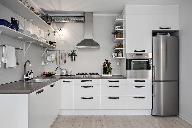 mustavalkoinen-tyyli-rento-keittio