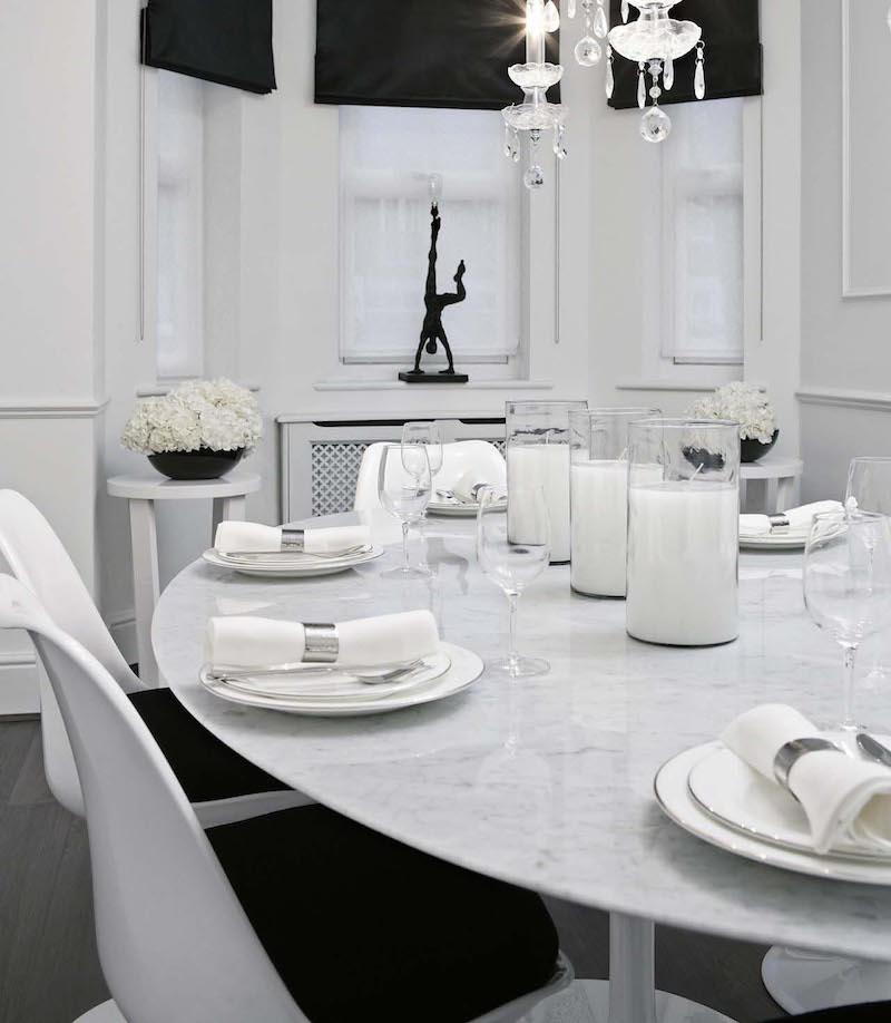 sisustus-koti-mustavalkoinen-tyyli-ruokailutila