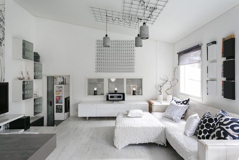 sisustus-moderni-mustavalkoinen-olohuone