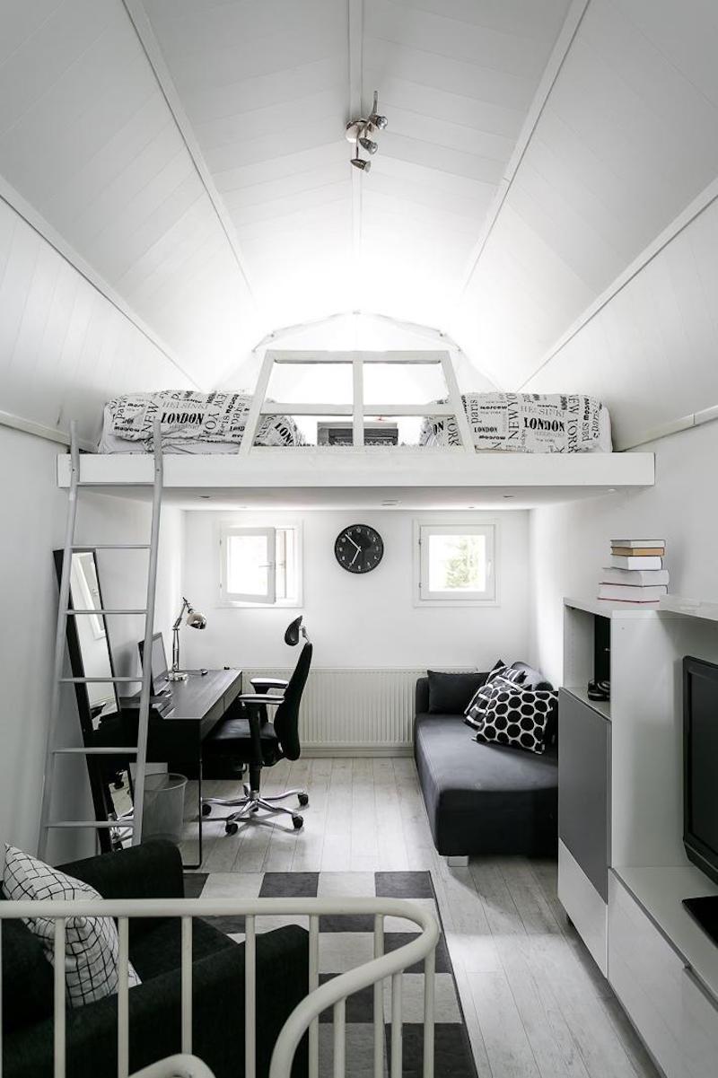 sisustus-moderni-mustavalkoinen-tyotila