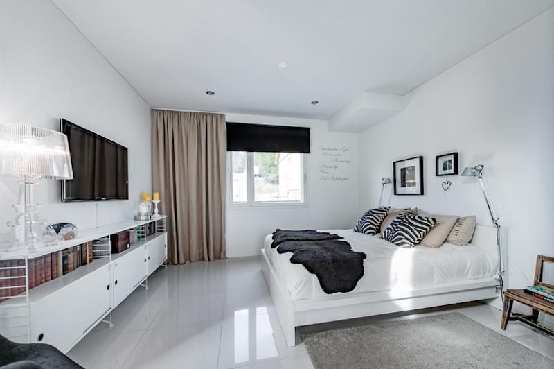 mustavalkoista-design-makuuhuone