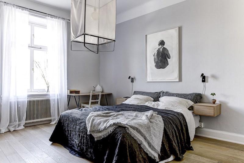 sisustuksen-rytmi-harmaa-puu-valkoinen-makuuhuone