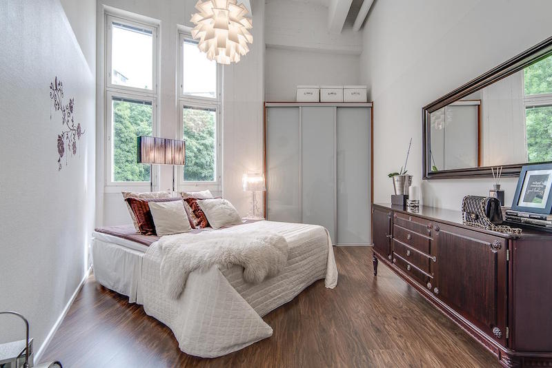 loft-asunto-sisustus-moderni-makuuhuone
