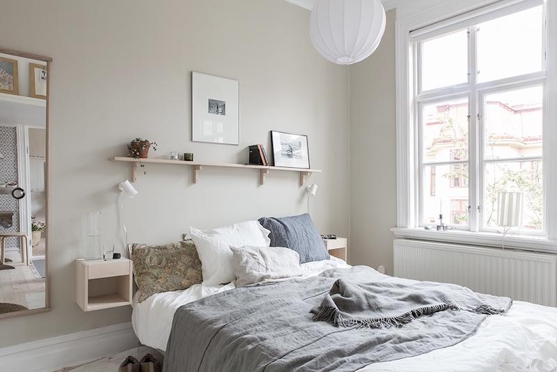 sisustus-vaalea-puu-makuuhuone