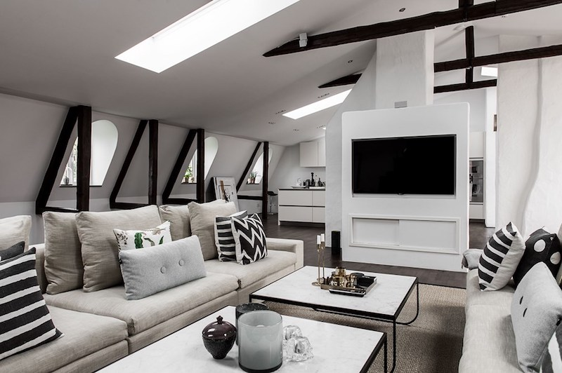 penthouse-olohuone-tv