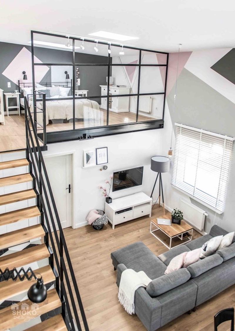 loft-sisustus-olohuone-portaat