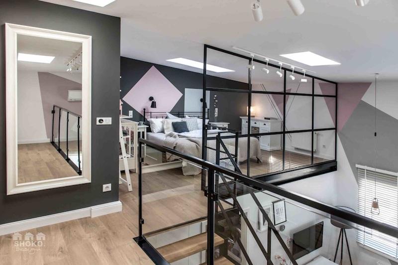 loft-sisustus-parvi-makuuhuone